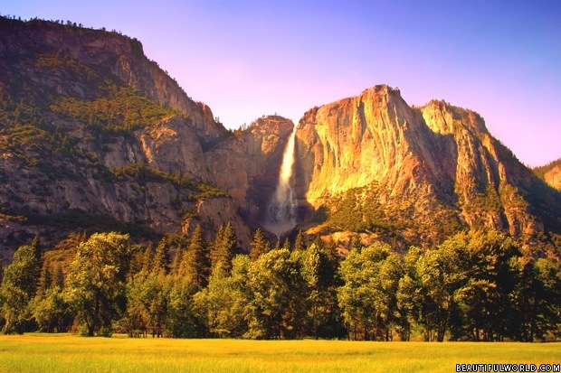 yosemite-falls-at-sunrise